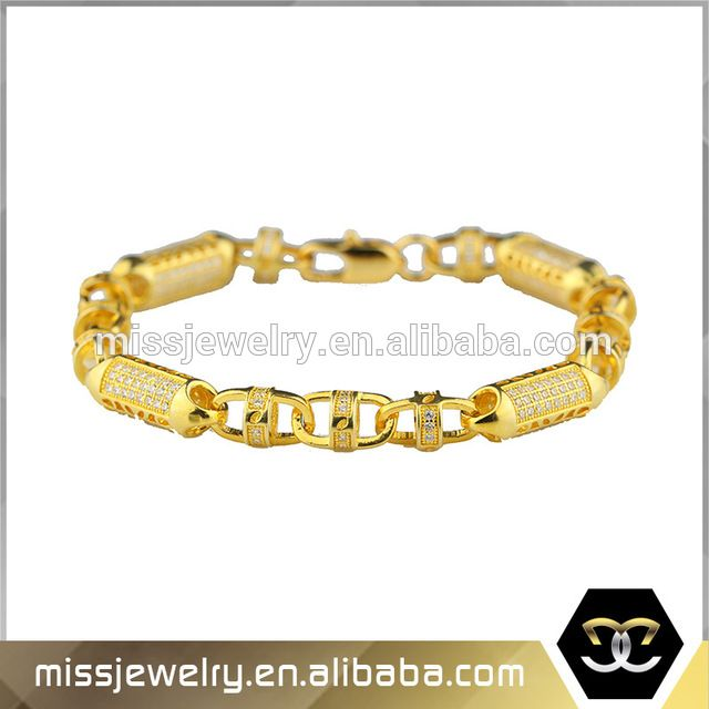 Source Saudi Arabia Jewelry Gold Bracelet For Men Weight Designer Diamond Kada On M Alibaba