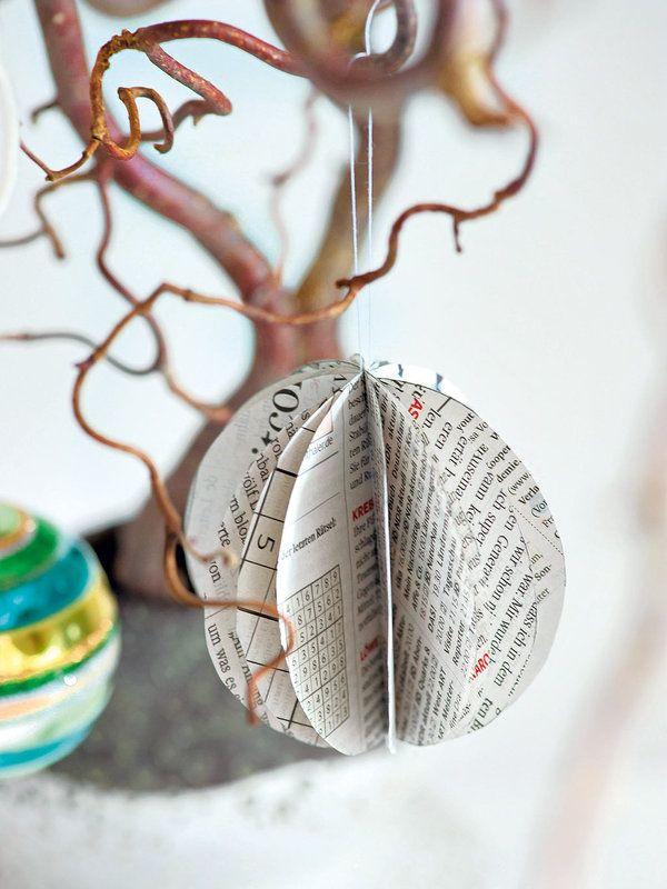 adornos navide os de papel de peri dico magical christmas