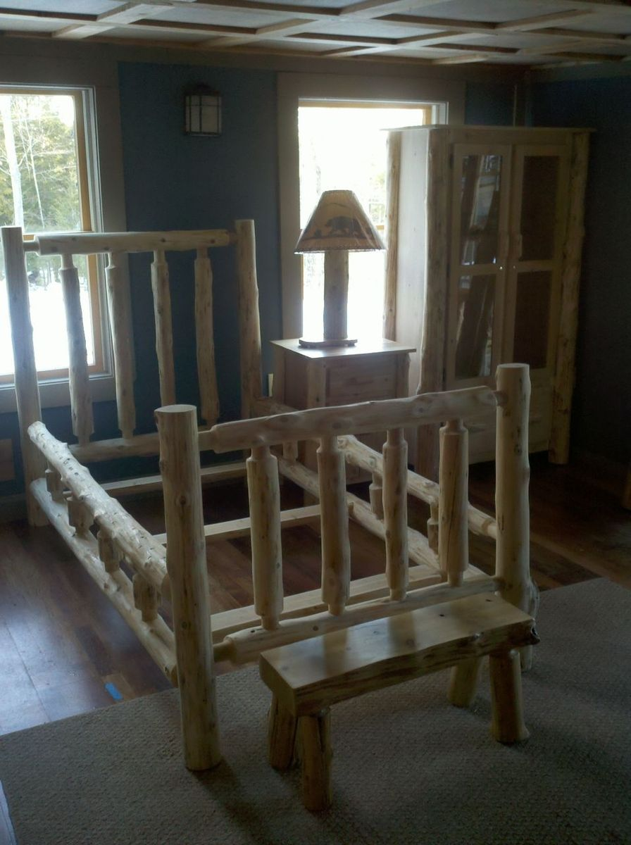 Cedar Log Bed in King size would be nice Log bed, Log