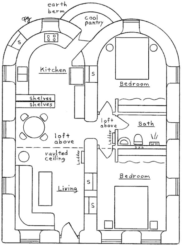 earthbag home plans | compound & roomful desine of Pookie Estates ...