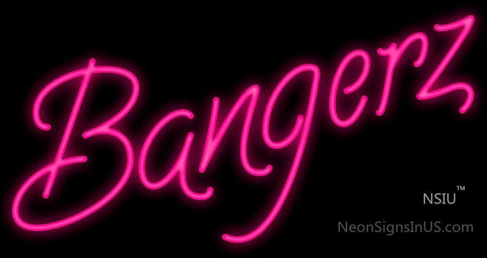 Bangerz Real Neon Glass Tube Neon Signs 32x17,Madein USA , Based in CA, Free Shipping and fast delivery , offer 3 year warranty.