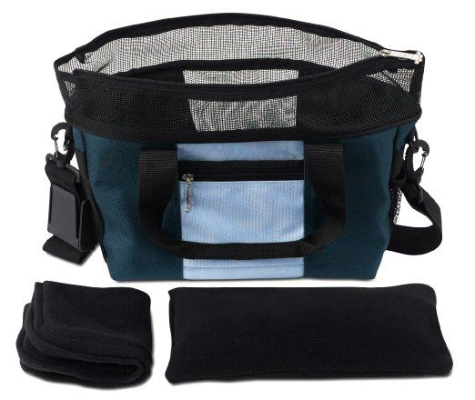 $43.63  Prime     Amazon.com: Doggles Dog Carrier Denier Messenger Bag, Large, Blue Dog Carrier: Pet Supplies