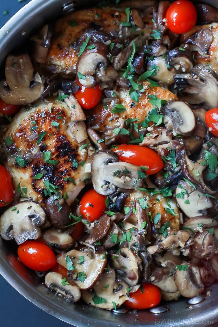 Easy Chicken Marsala with Blistered Tomatoes   Recipe ...
