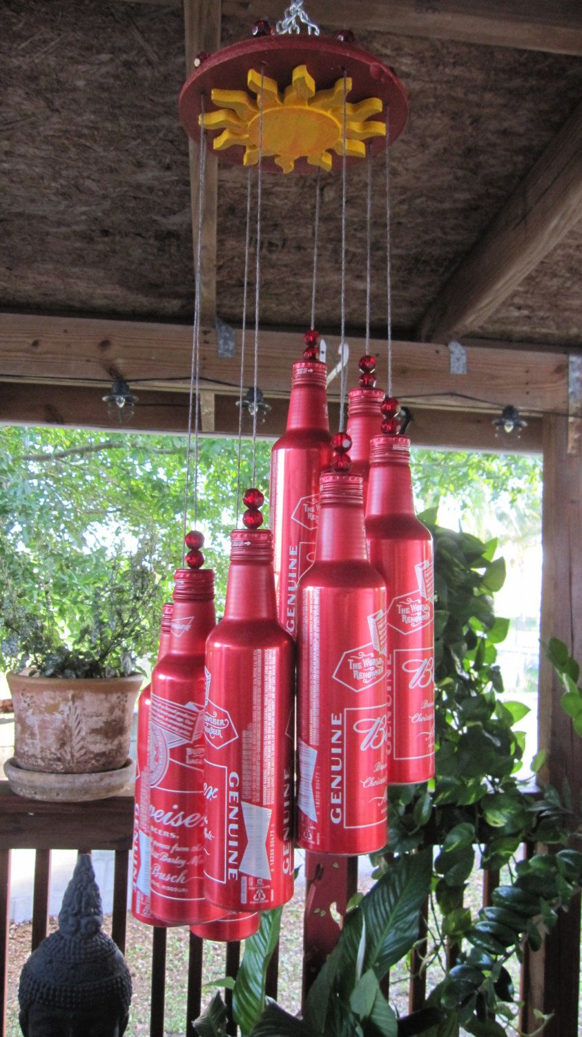 Beer Bottle Wind Chimes Easy Craft Ideas