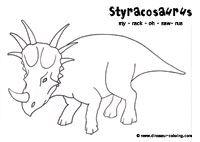 Styracosaurus Dinosaur Coloring Dinosaur Silhouette Dinosaur