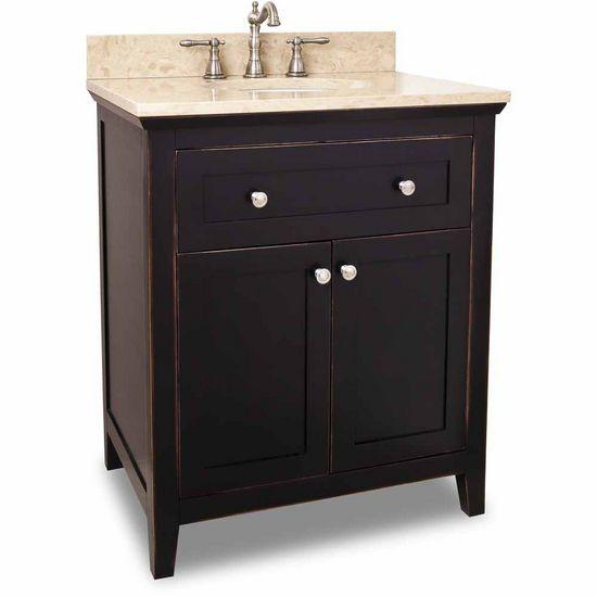 Alexander 30 Inch Chatham Shaker Black Bathroom Vanity 30 Inch