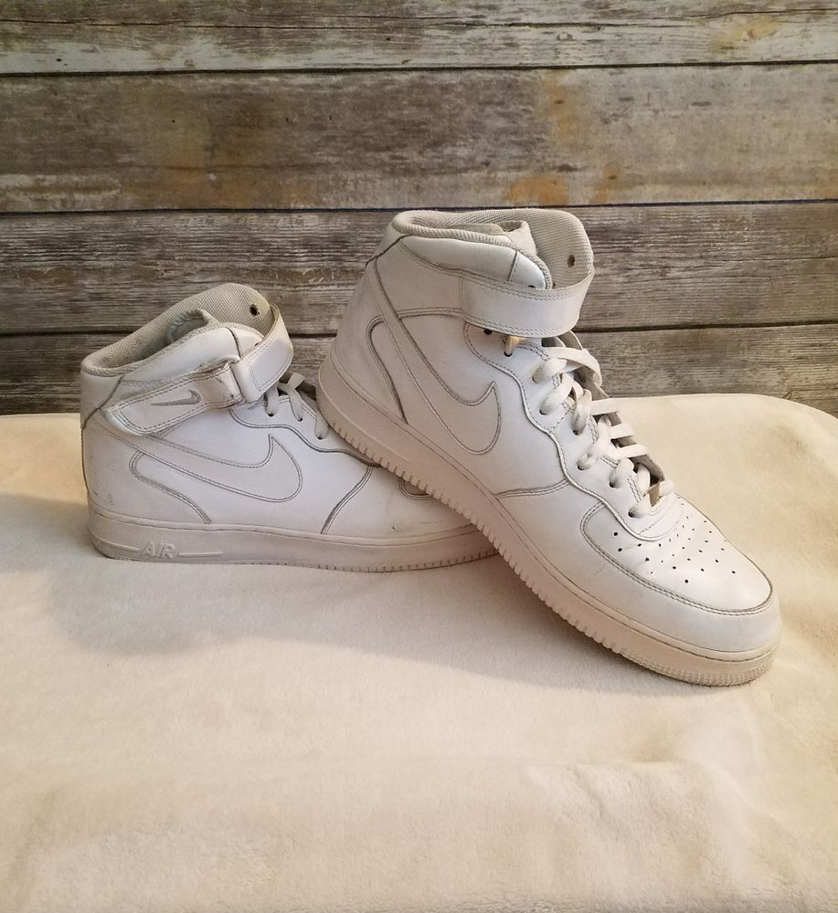 Nike Air Force 1 AF 1 '82 All White High Tops 2009
