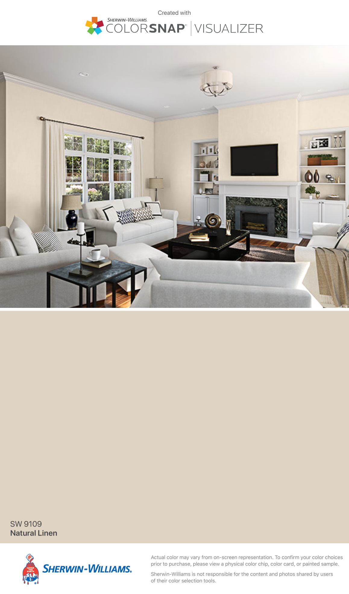 I Found This Color With Colorsnap Visualizer For Iphone By Sherwin Williams Natural Linen Sw 9109