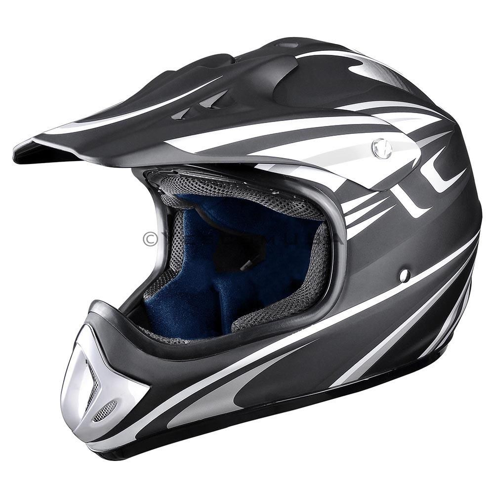 Yescom Full Face Flip up Modular Motorcycle Helmet DOT Approved Dual Visor Motocross Black M