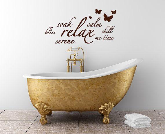 Bathroom Wall Sticker Bano Con Mariposas Arte De La Pared Del