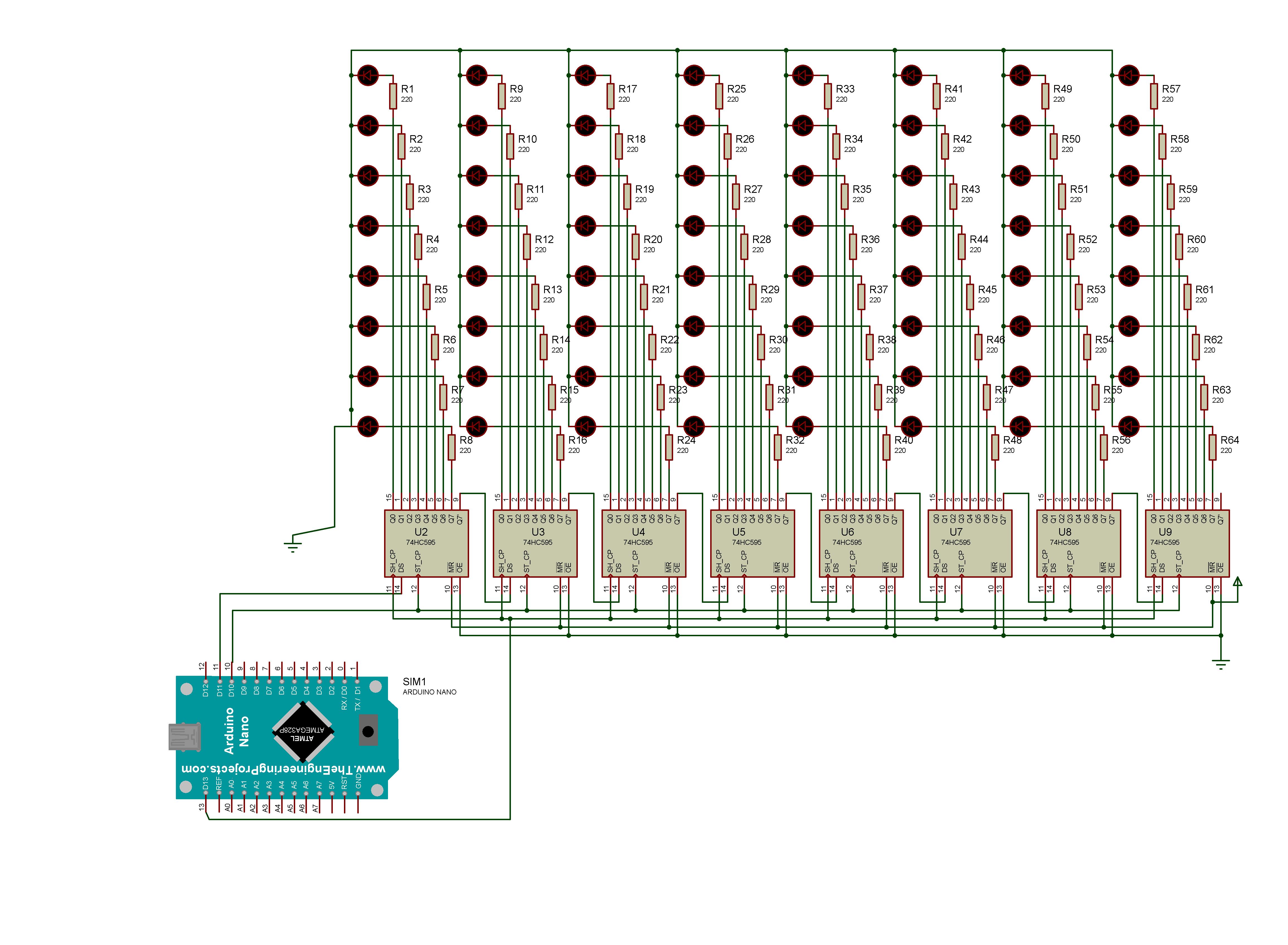 El Cubo Led 8x8x8 Con Arduino Led Cableado Eléctrico Cubos