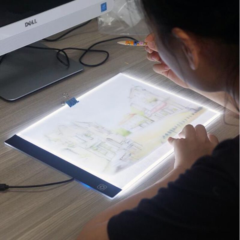 Ultrathin 3 5mm A4 Led Light Box Stencil Touch Board Drawing Copy Board Animation Tracing Pad Without Radiation Eu Led Light Box Cross Paintings Drawing Table