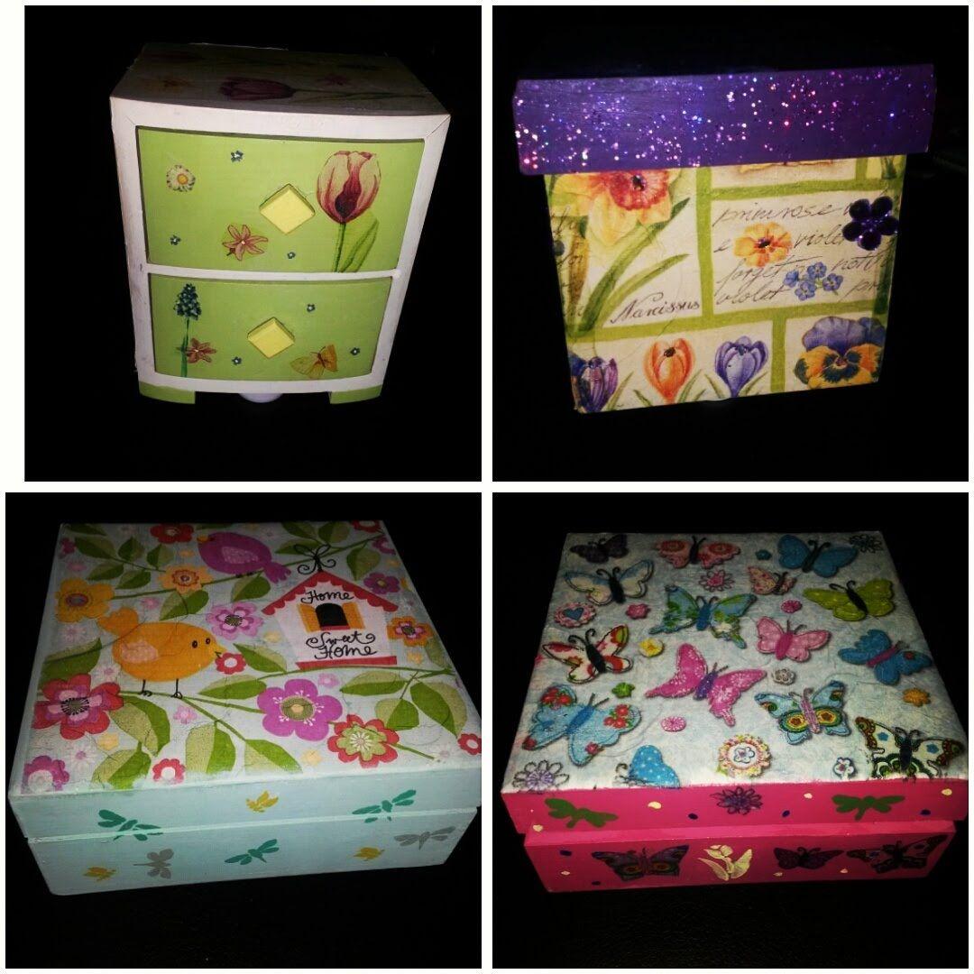Caja de madera decorada con servilleta cajas pinterest - Cajas de madera decorativas ...