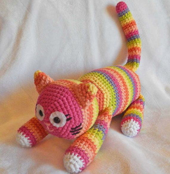Crochet Amigurumi Pattern Crochet Toy Cat Hertercrochetdesigns