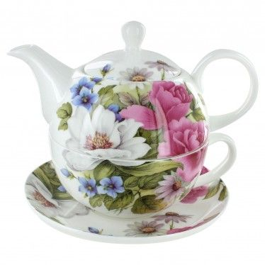 Grace's Rose Bone China - Tea for One with Saucer