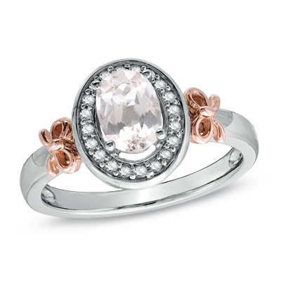 I Ve Tagged A Product On Zales Oval Pink Morganite And 1