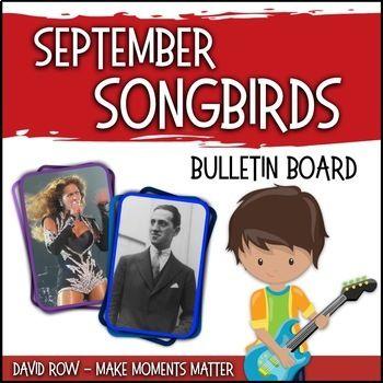 September Songbirds Music Bulletin Board Set Music Bulletin Board Bulletin Board Sets Music Classroom