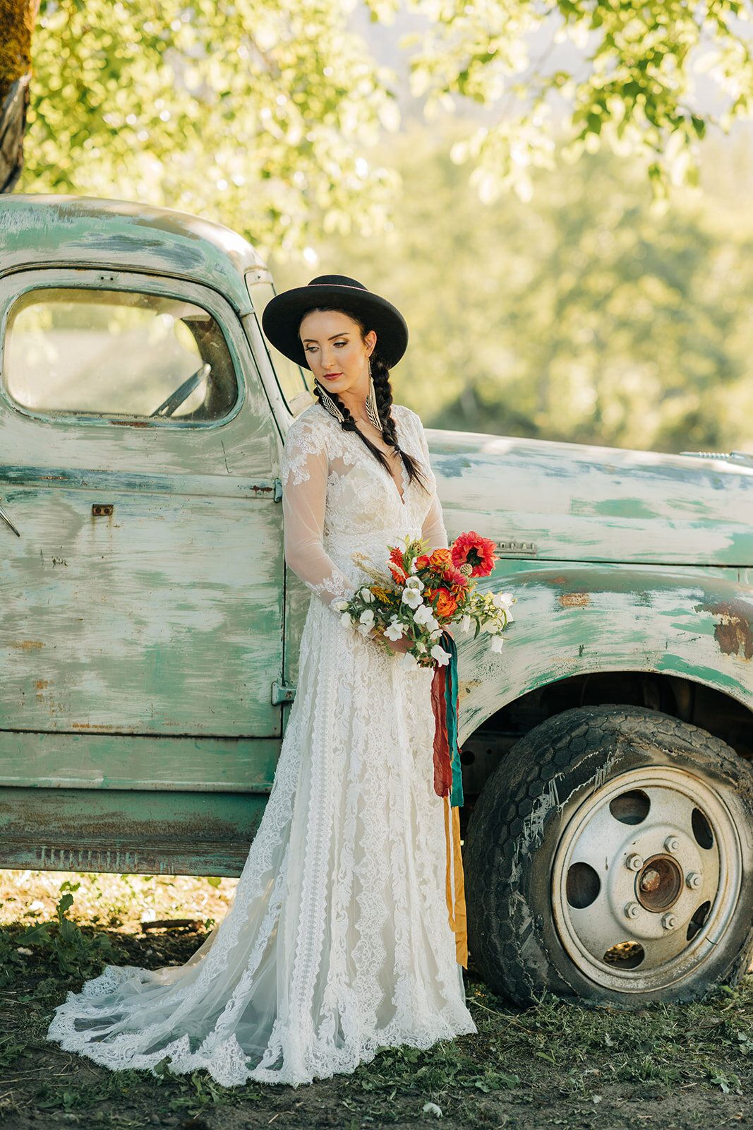Southwestern boho styled elopement bohoweddingdress