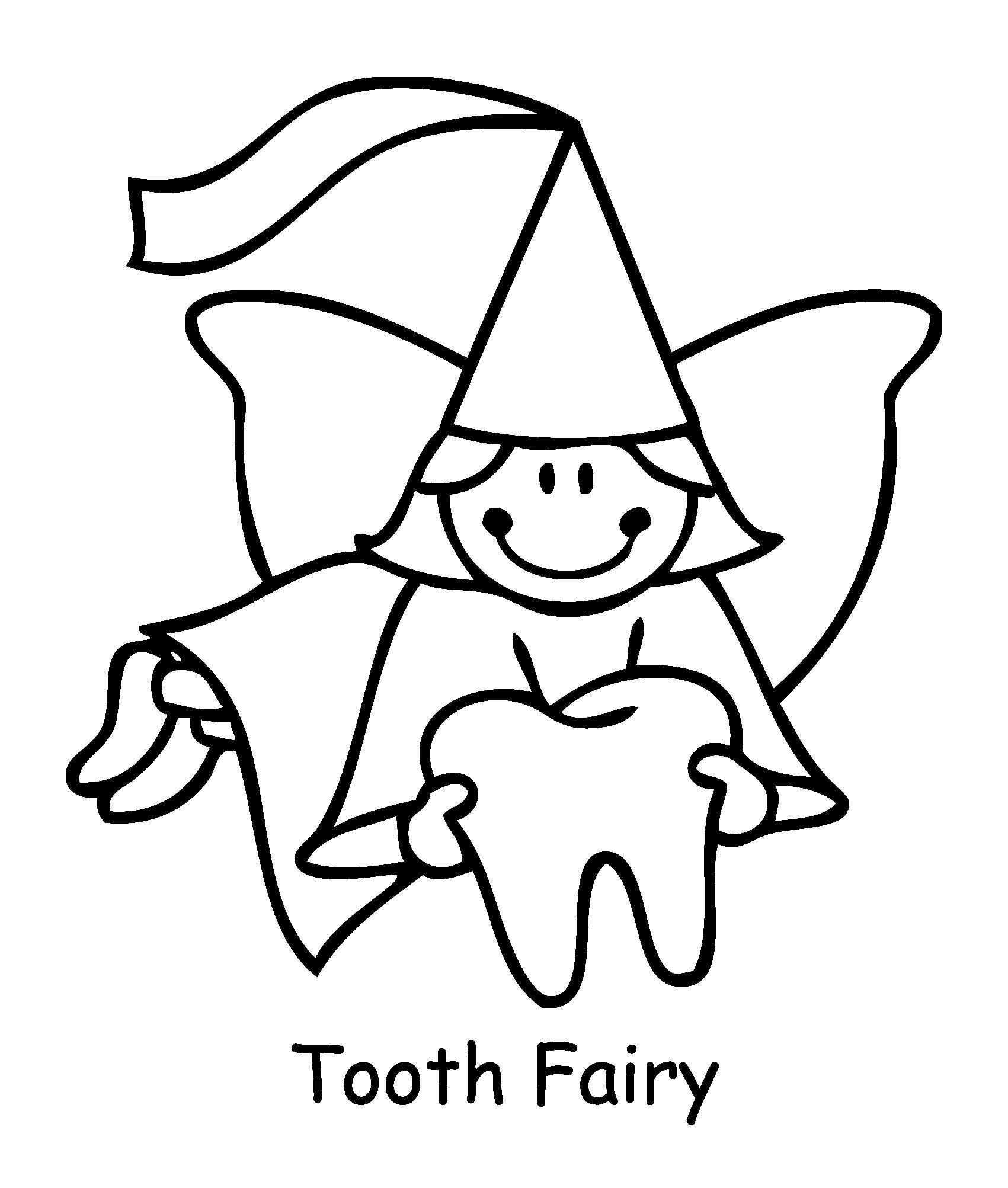 Coloring Pages for Tooth Fairy Kindergarten Pinterest Tooth