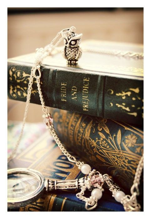 I own that owl necklace! I've never found something I actually own on pinterest except books. I really shouldn't be so excited by this :)