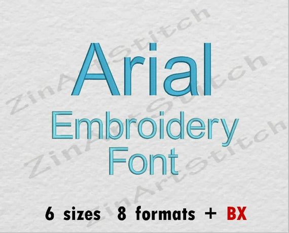 Arial Embroidery Font Machine Embroidery Design Instant