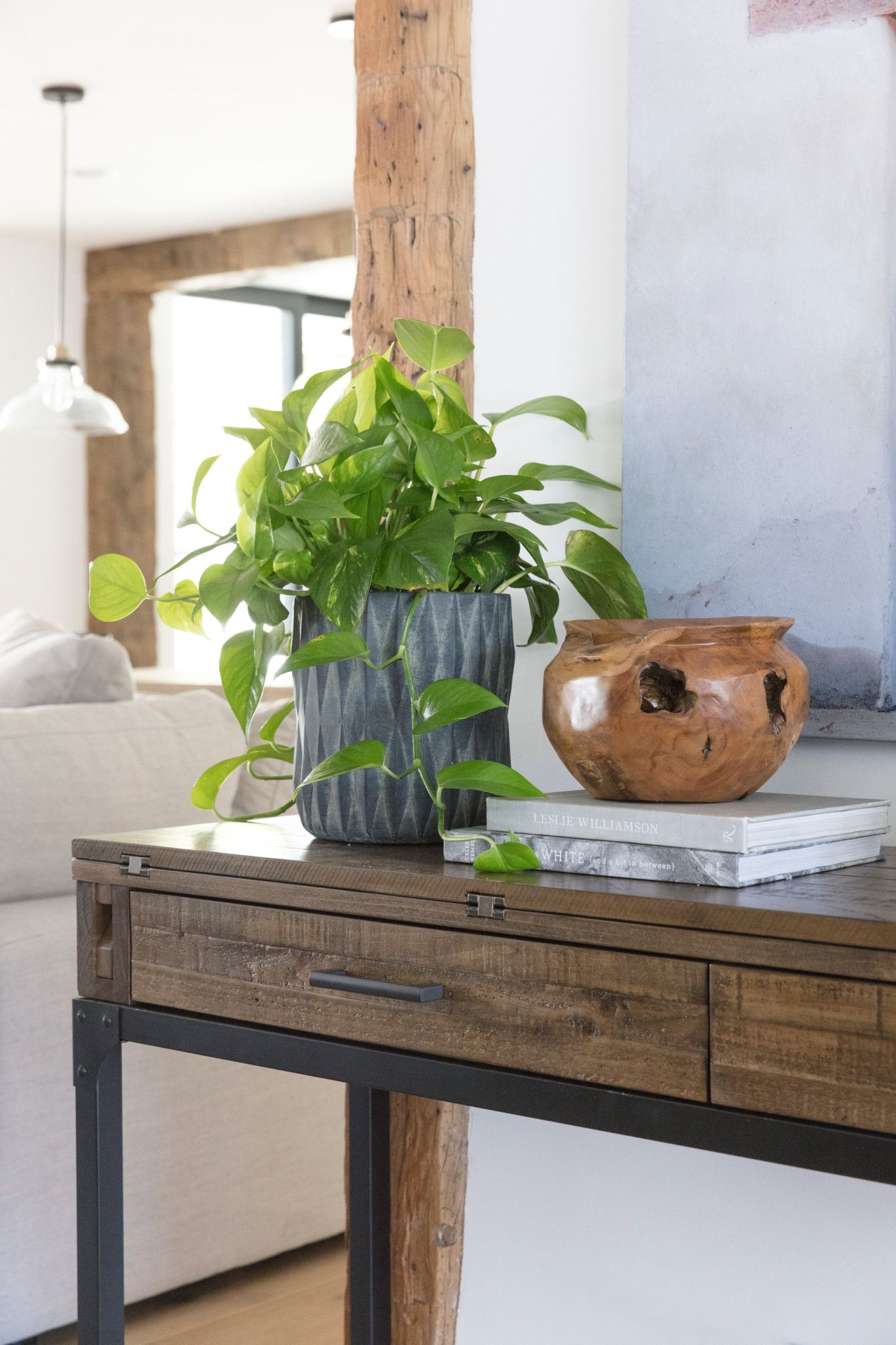 Bring Industrial Ingenuity To Your Living Room With Our Foundry Flip Top  Sofa Table.