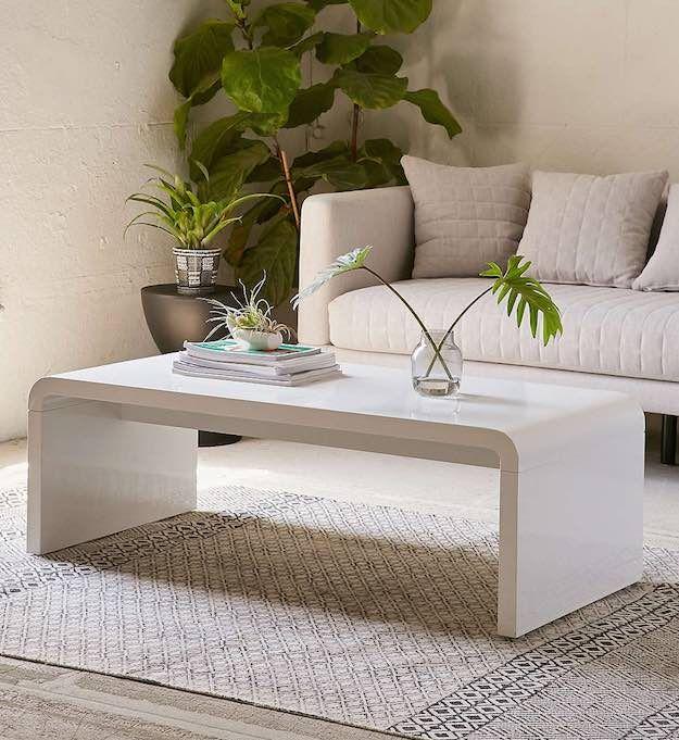 Minimalist Narrow Coffee Table | 15 Narrow Coffee Table Ideas For Small  Spaces