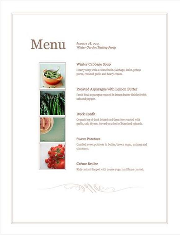 simple menu template - Google Search FERMENTED Pinterest - event menu template