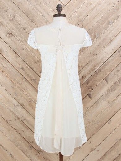 Crochet Flower Bow Back Dress from Alter'd State...saw this in baby blue in the store! So pretty.