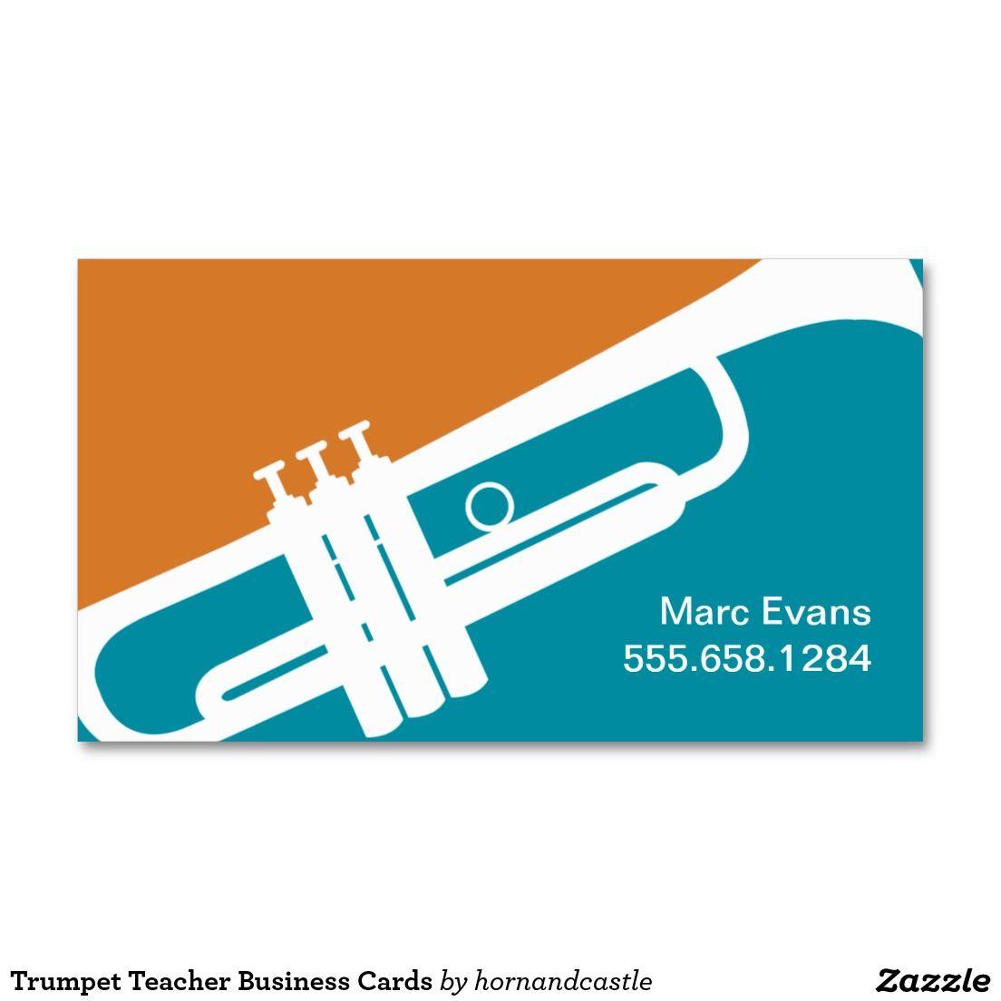 Trumpet teacher business cards business teacher business cards trumpet teacher business cards magicingreecefo Gallery