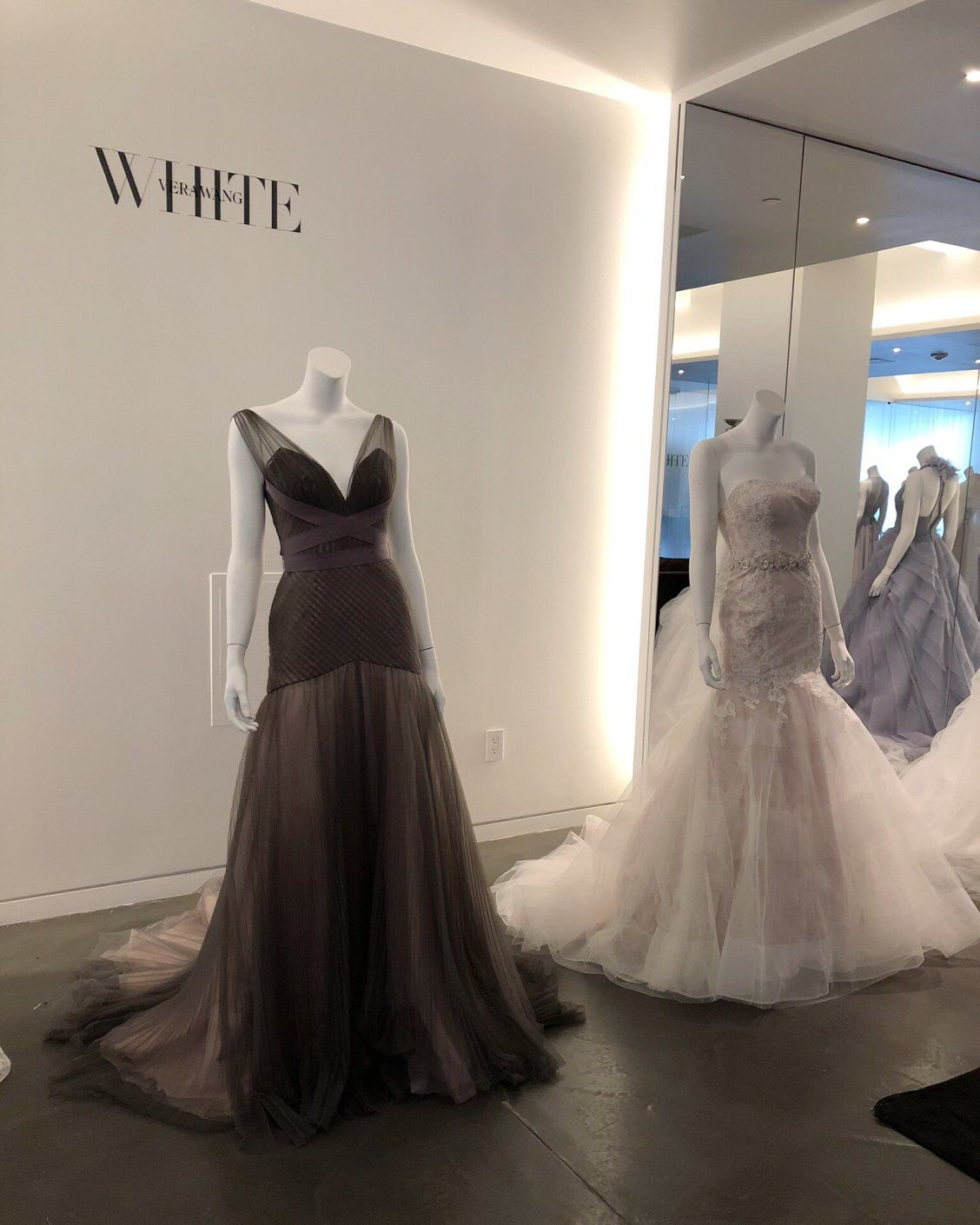 Opt For A Colored Wedding Dress On Your Wedding Day We Are Obsessed With This Charcoal Fit And Flar Wedding Gowns Lace Colored Wedding Dress Vera Wang Wedding [ 1410 x 1128 Pixel ]