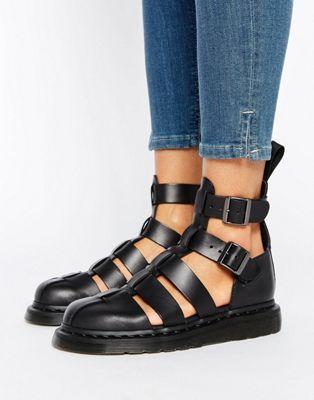 Geraldo Ankle Strap Sandals In Black - Black Dr. Martens t6zJ01V