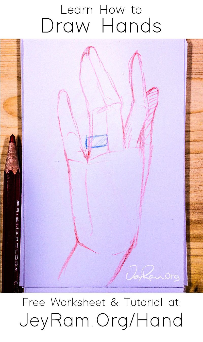 How To Draw Hands Free Worksheet Tutorial In 2020 How To Draw Hands Learn To Draw Drawings