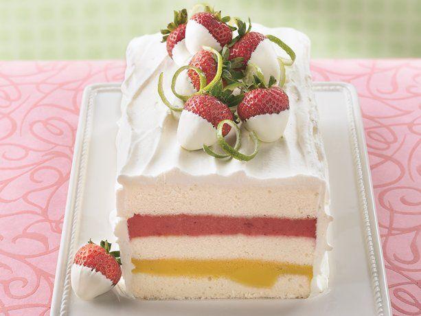 Mango-Strawberry Sorbet Torte