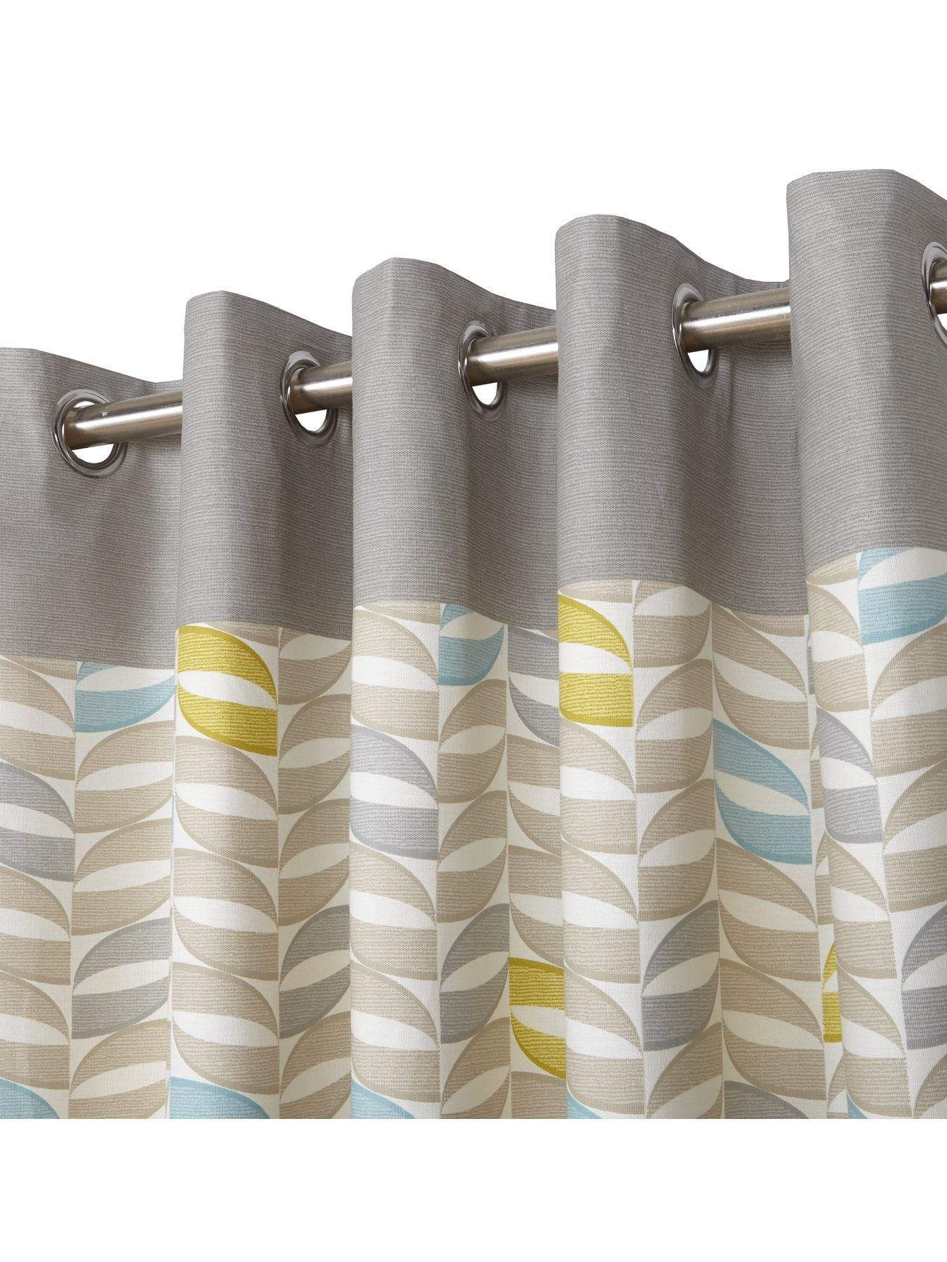 Copeland lined eyelet curtains window bedrooms and retro curtains