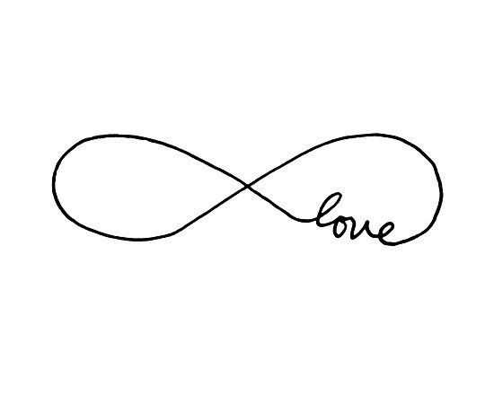 Infinite Love Womens Fitted Scoop T Shirt Tattoo And Infinity