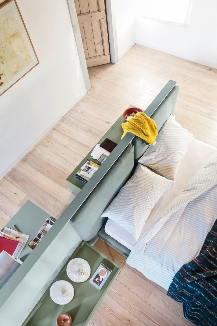 Betten   Schreibtisch im schlafzimmer, Raumteiler, Designer bett