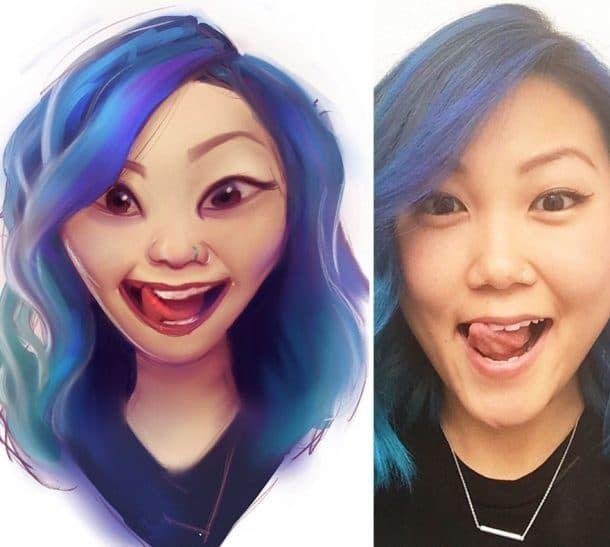 Cet artiste s'est amusé à peindre certains de ses followers Instagram et le résultat est vraiment cool !