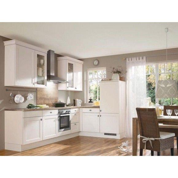 Eckkuche in cremefarben von celina helle farben und hohe for Celina küche