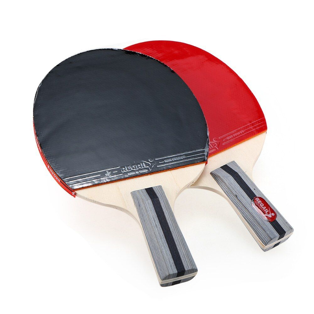 Best Quality Table Tennis Racket Ping Pong Paddle Set Table Tennis Rackets And 3 Balls With Cove Ping Pong Paddles Table Tennis Racket Ping Pong Paddles Sets