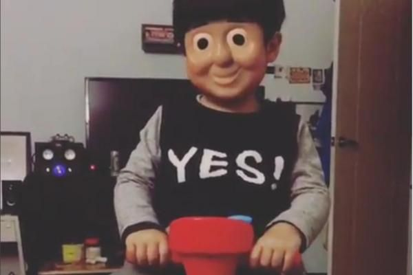 Toddler S Face Swap With Thomas The Tank Engine Both Creepy And Cute Face Swaps Thomas The Tank Engine Thomas The Tank