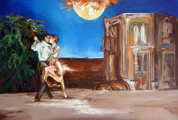 Bajo La Luna - http://redarte.com.ar/2013/08/bajo-la-luna/ #RedArte #Art #Arte #Pintura