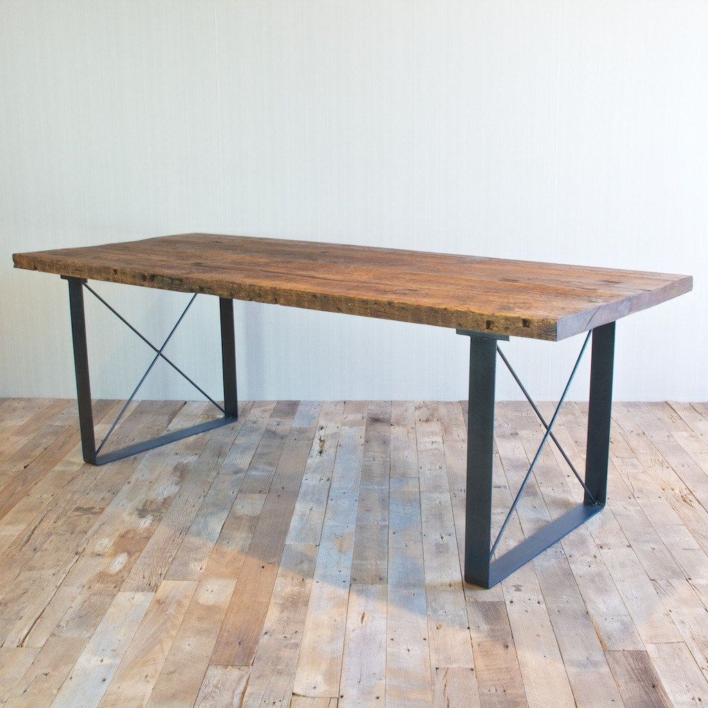Handmade Reclaimed Wood Dining Table and Bench Set. $1,500.00, via Etsy.  Furnishing ...
