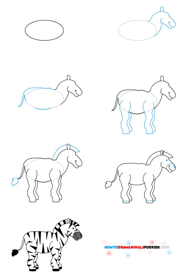 pin the tail on the zebra how to draw