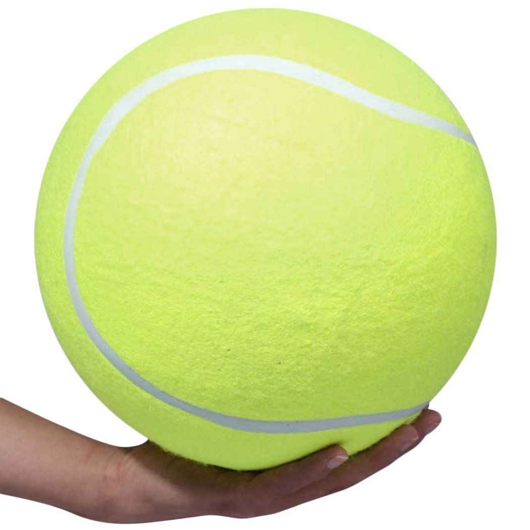9 4 Inch Tennis Ball Signature Signal Mega Jumbo Larger Pets Toys Dogs Outdoor Sports Cricket One Size Yellow Click Image T Dog Toys Tennis Ball Outdoor Dog
