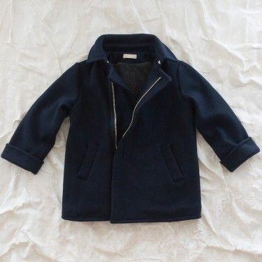 talc coat - navy