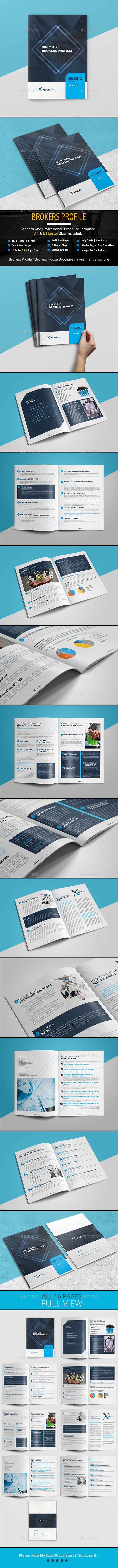 Free Profile Templates Brokers Profile Brochure  Brochures Print Templates And Brochure .