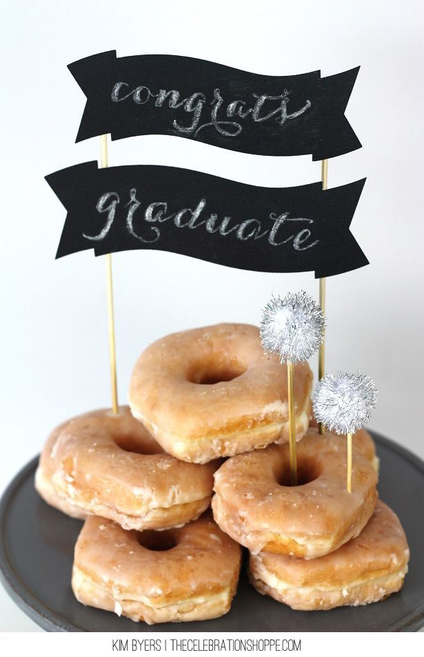 Chalkboard Cake Topper | Easy DIY With http://TheCelebrationShoppe.com