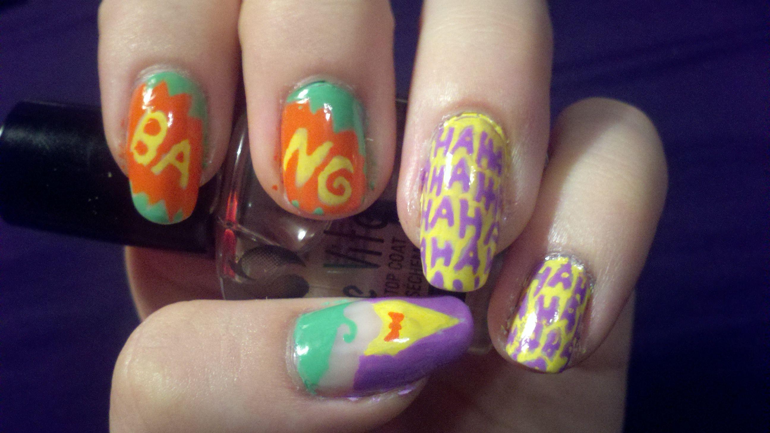Joker Nail Art ~ ~   Style/Hair/Nails/Beauty   Pinterest   Joker and ...