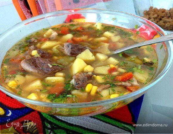 едим дома рецепты фасолевый суп с перцем и кукурузой